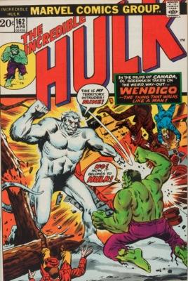 Hulk Villains: Wendigo (First Appearance: Incredible Hulk #162, April, 1973). Click for value